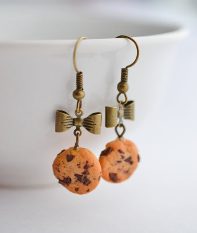 Scented Extra Chunky Chocolate Chip Cookie Earrings-Vintage