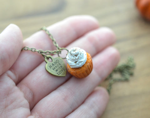 Pumpkin Spice Scented Cupcake Necklace
