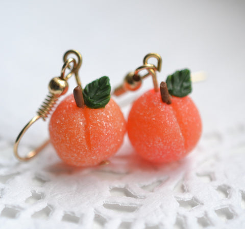 Scented Sugar Coated Georgia Peach Earrings (wholesale)