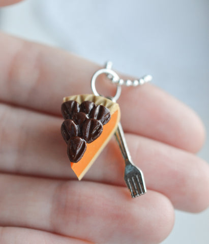 Scented Pecan Pie Charm Necklace