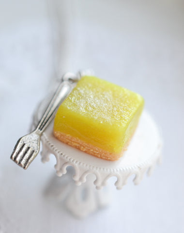 Scented Lemon Bar Necklace