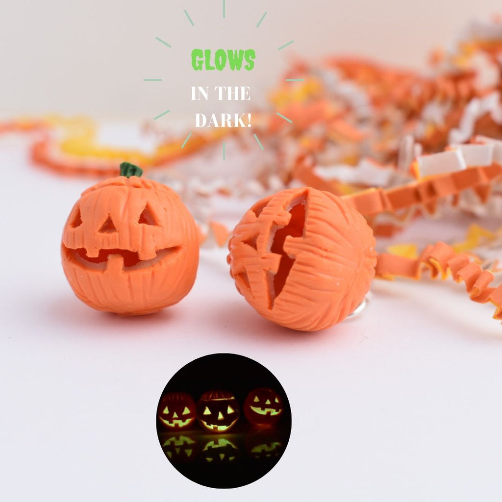 1:12 Scale Scented Glow In The Dark Jack O' Lantern Pumpkin Miniature