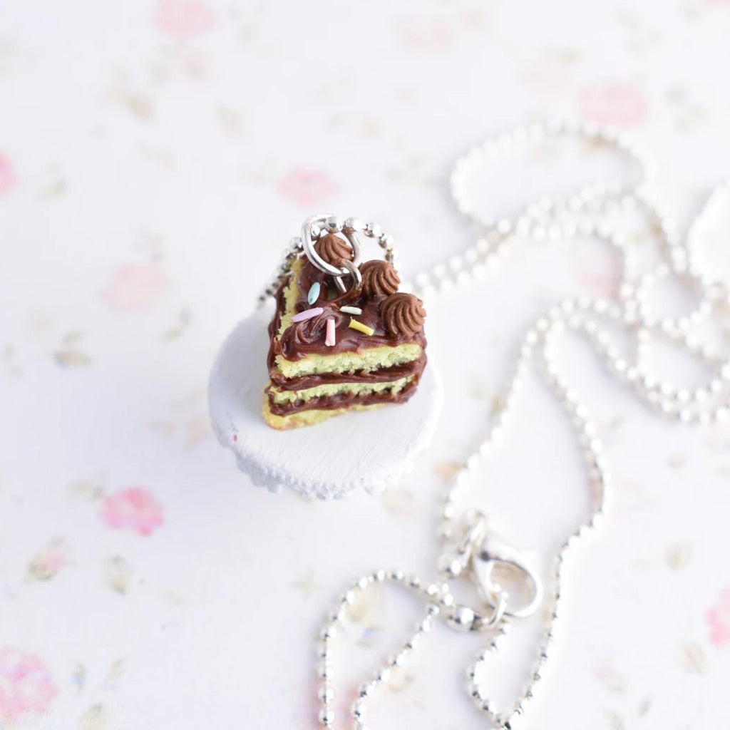 Scented Chocolate Birthday Cake Necklace
