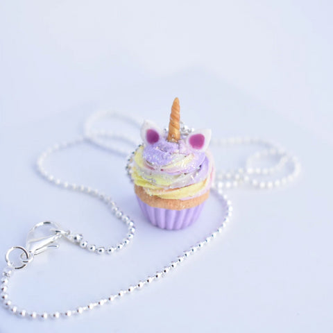 Scented Unicorn Cupcake Necklace