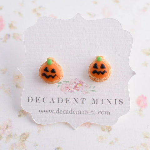 Scented Halloween Jack O' Lantern Sugar Cookie Earrings