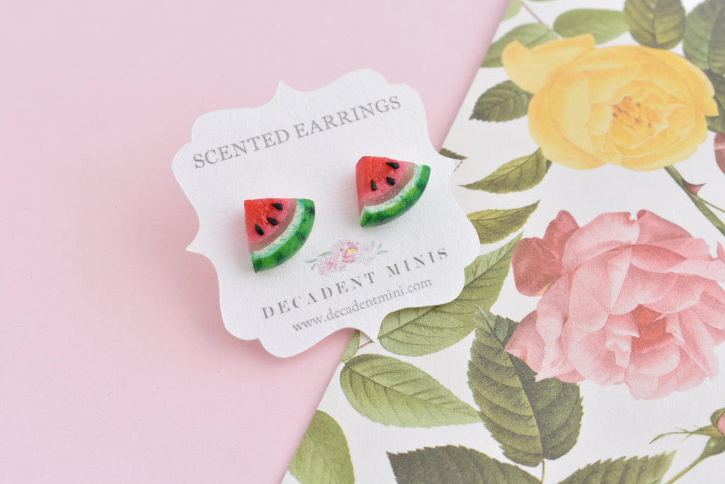 Scented Watermelon Stud Earrings
