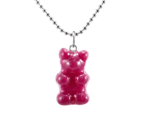 Scented Gummy Bear Necklace-Sterling Silver