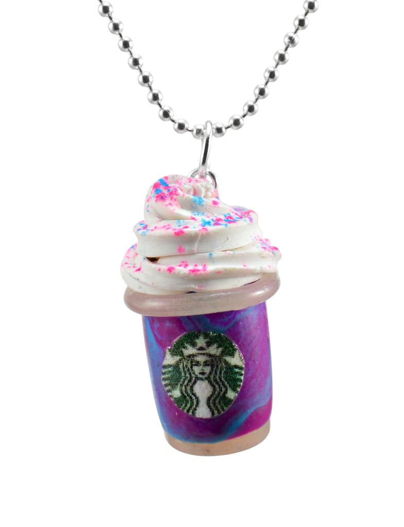 Scented Starbucks Inspired Unicorn Frappuccino Charm Necklace (wholesale)
