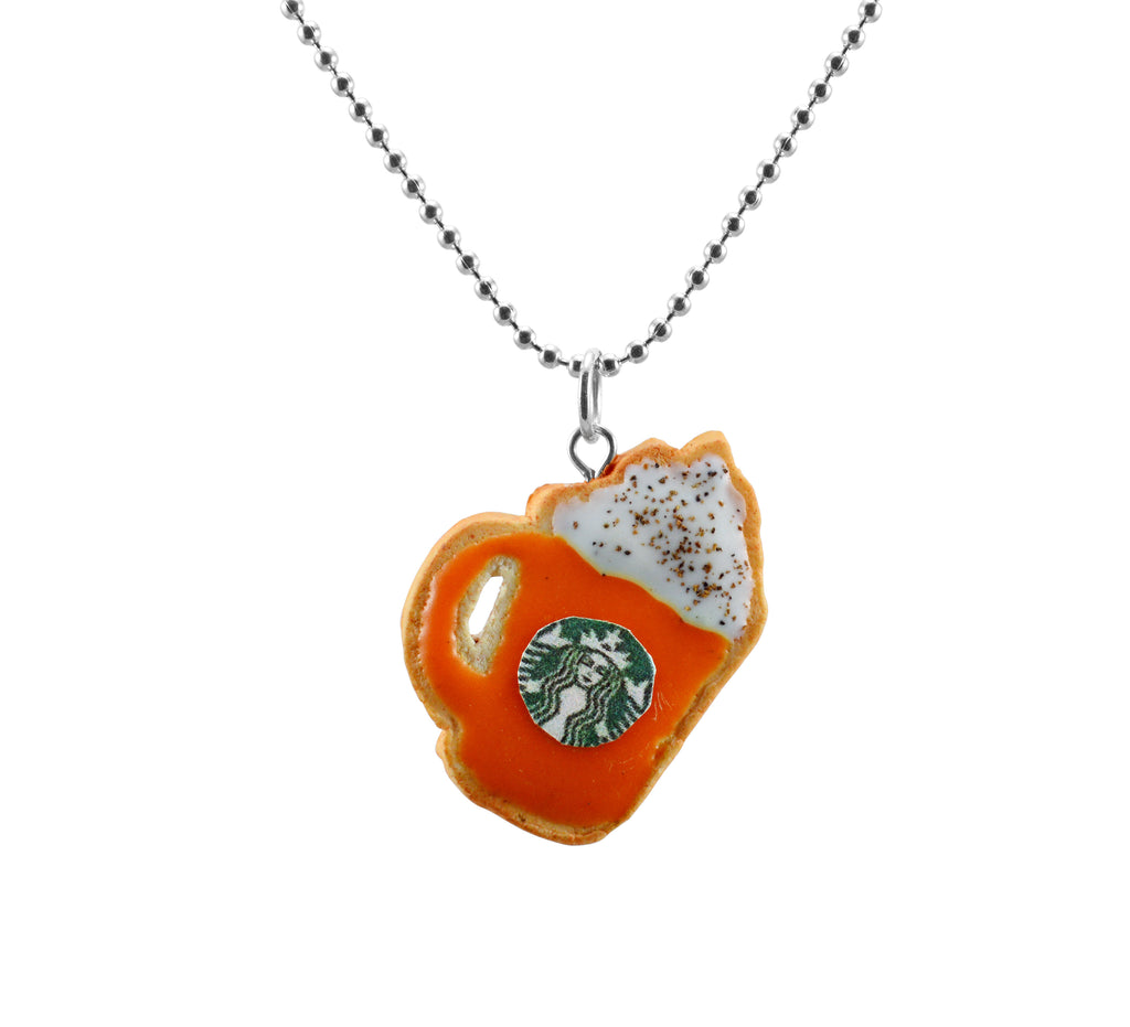 Scented Starbucks Pumpkin Spice Latte Sugar Cookie Necklace