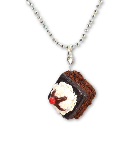 Scented Hot Fudge Brownie Sundae Necklace