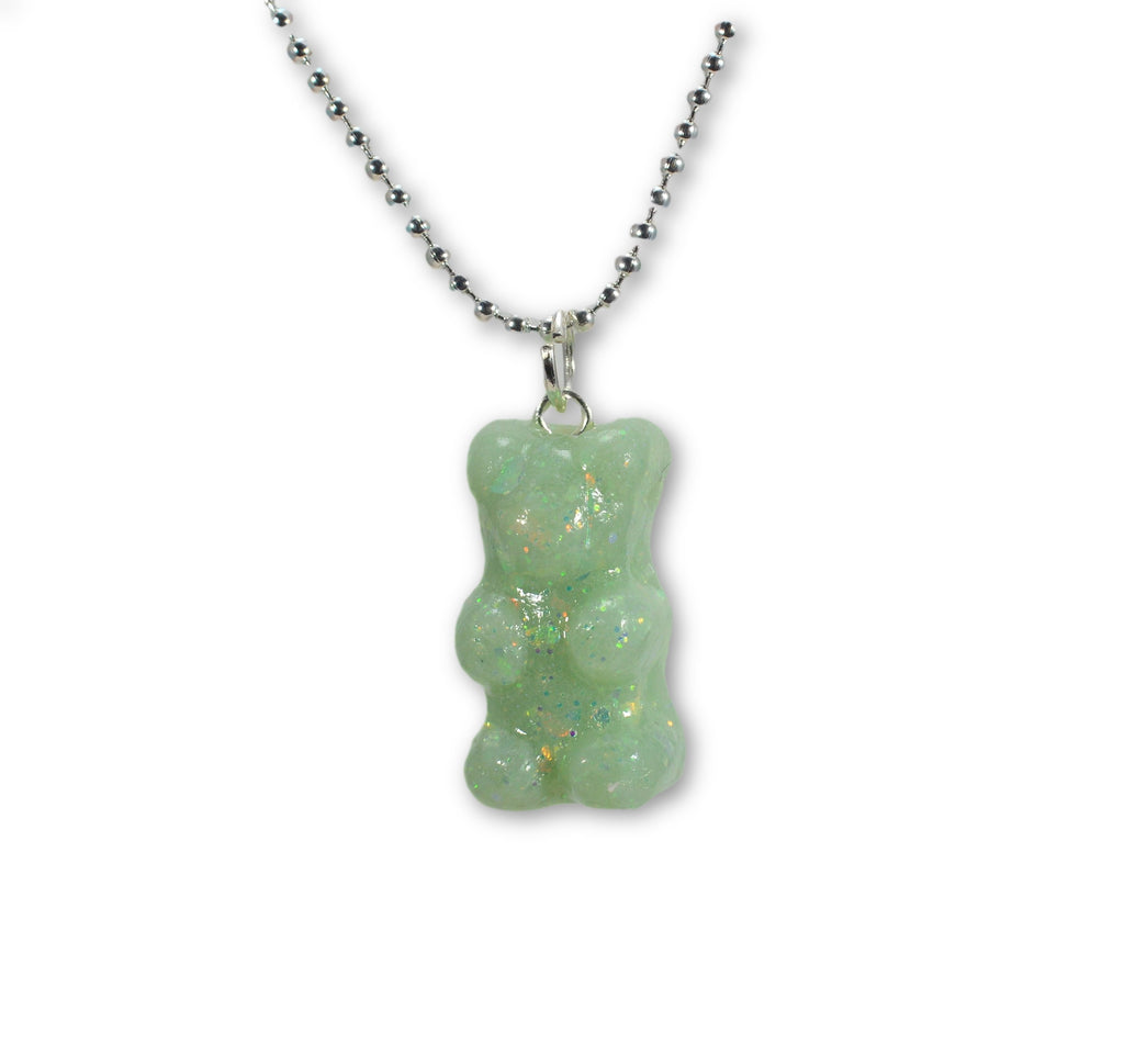 Scented Opal Gummy Bear Necklace Pastel