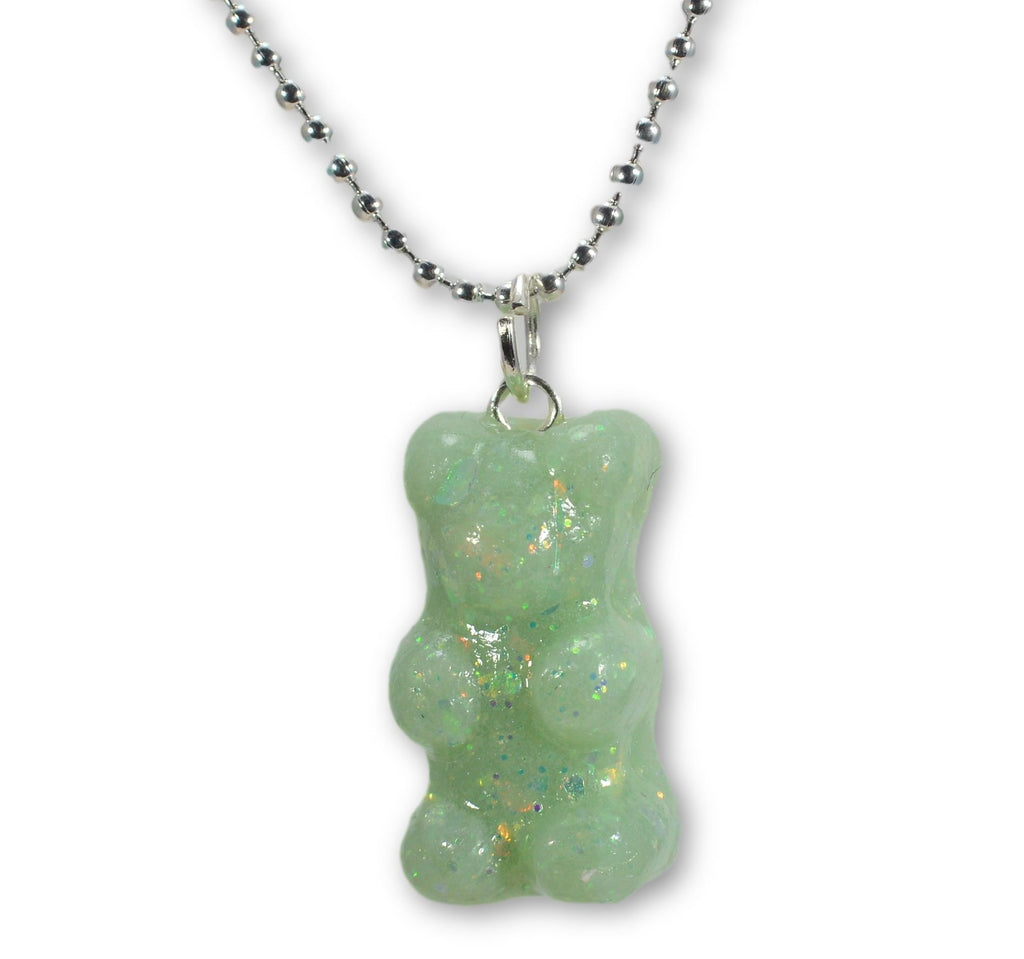 Scented Opal Gummy Bear Necklace Pastel (wholesale)