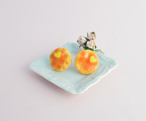 Scented Waffle Stud Earrings