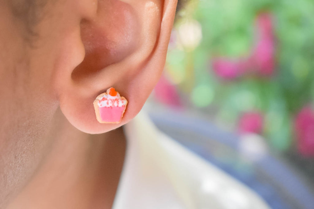 Scented Cupcake Sugar Cookie Stud Earrings