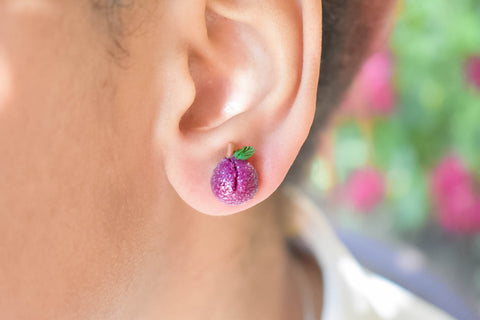 Scented Sugar Plum Stud Earrings