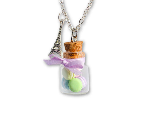 Pastel Macaron Cookie Jar Necklace