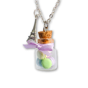 Pastel Macaron Cookie Jar Necklace Wholesale