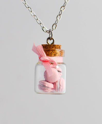 Pink Macaron Cookie Jar Necklace