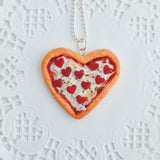 Scented Heart Shaped Pizza Necklace