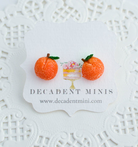 Scented Georgia Peach Stud Earrings
