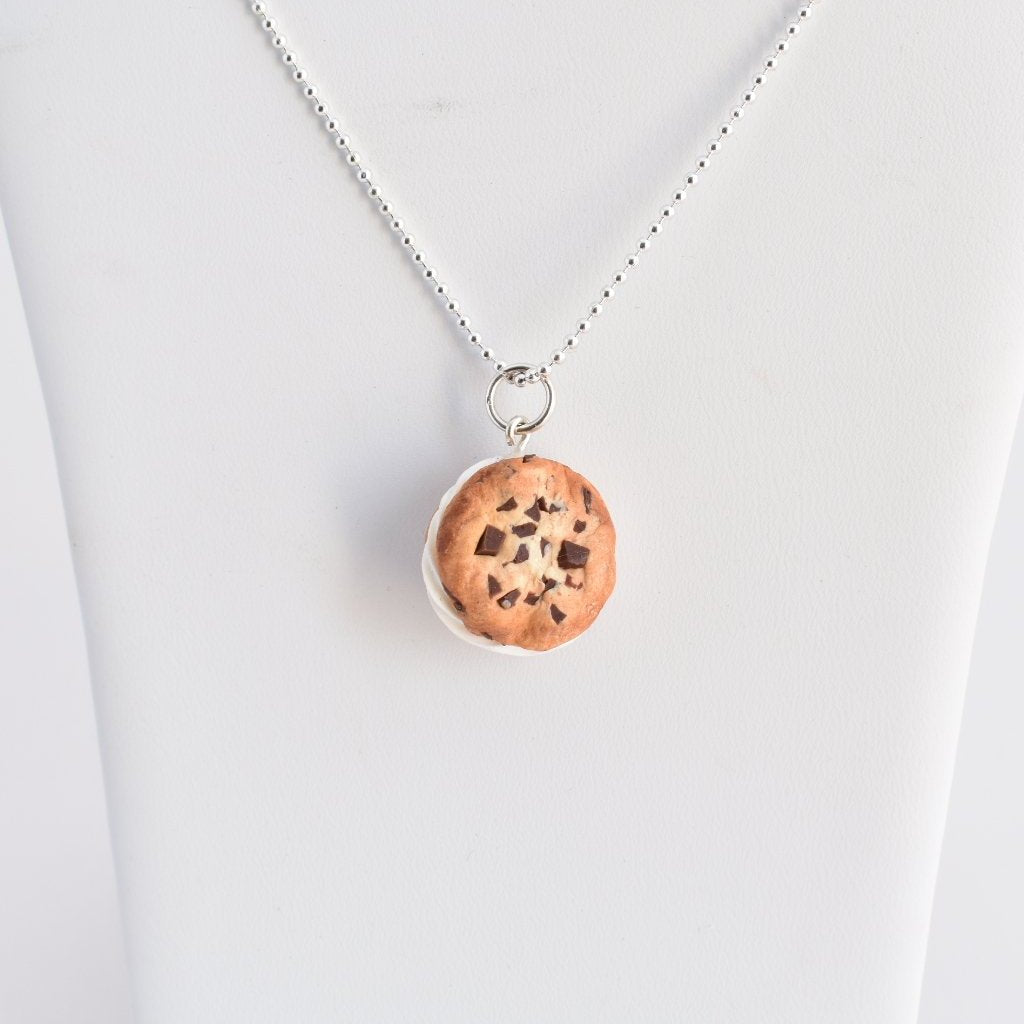 Scented Chocolate Chip Ice Cream Sandwich Necklace