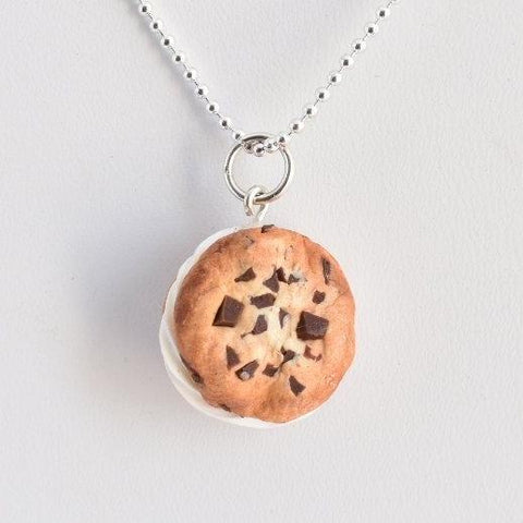 Scented Chocolate Chip Ice Cream Sandwich Necklace (wholesale)