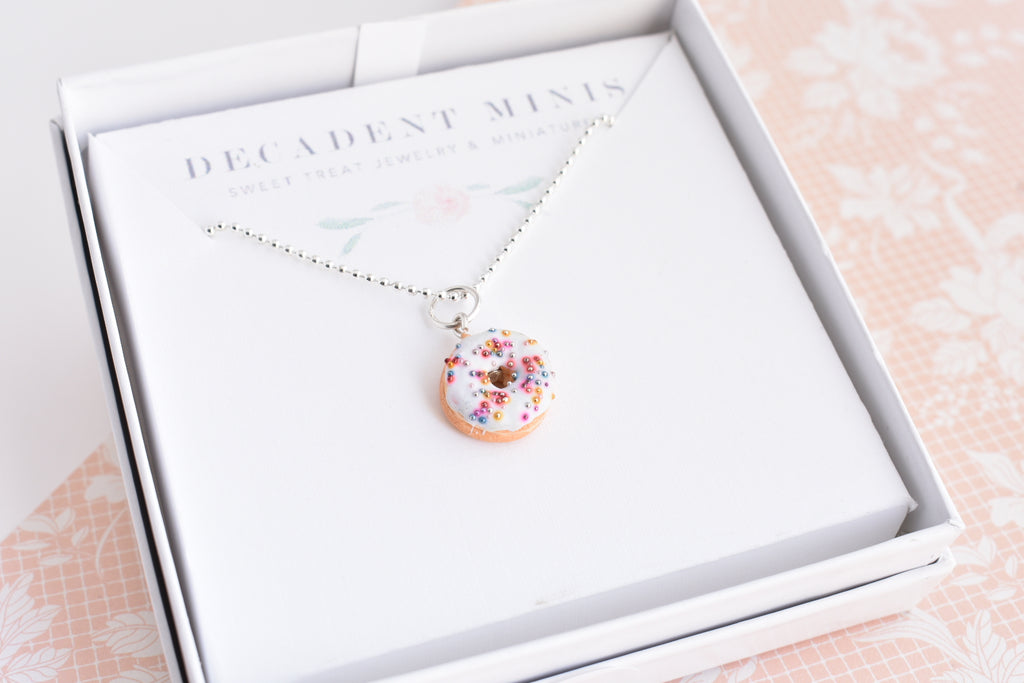Scented Funfetti Donut Necklace