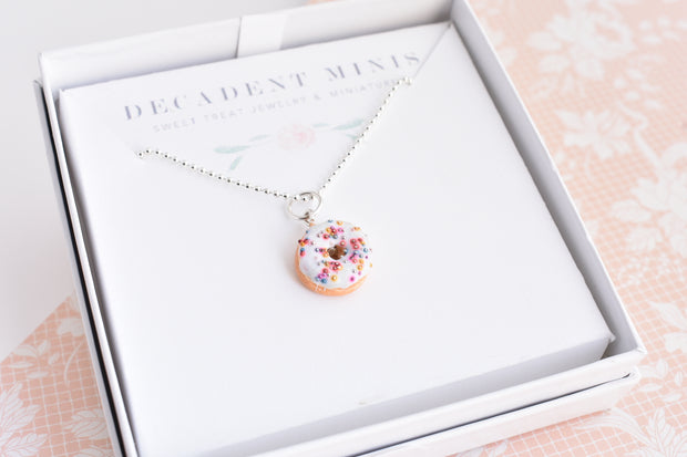 Scented Funfetti Donut Necklace (wholesale) 1
