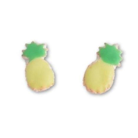 Scented Pineapple Sugar Cookie Earrings (wholesale)