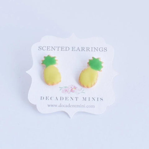 Scented Pineapple Sugar Cookie Earrings