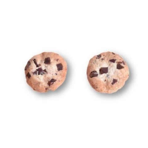 Scented Extra Chunky Chocolate Chip Cookie Stud Earrings (wholesale)