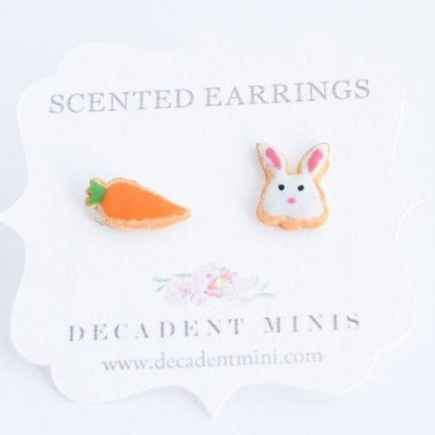 Scented Bunny & Carrot Sugar Cookie Earrings (wholesale)