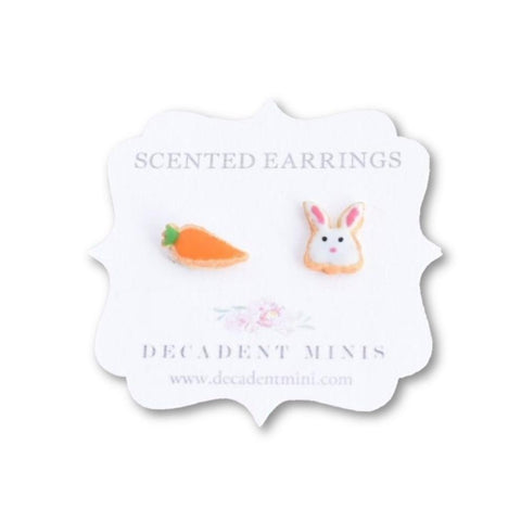 Scented Bunny & Carrot Sugar Cookie Earrings