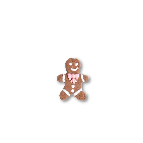 Scented Gingerbread Man Pin - Pink Christmas Bow (wholesale)