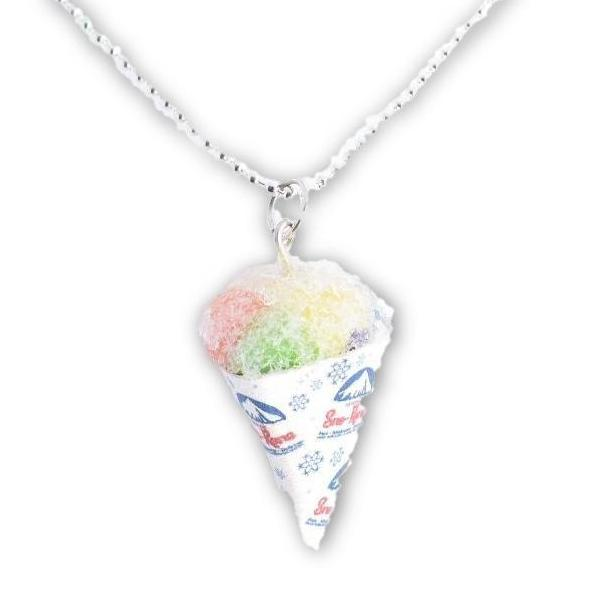 Scented Rainbow Sno Cone Necklace (wholesale)