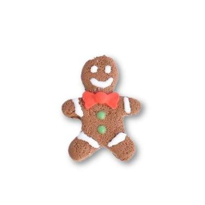 Scented Gingerbread Man Pin - Red Bow (wholesale)