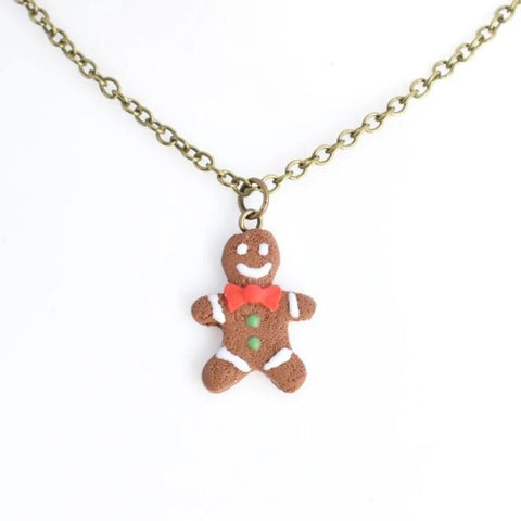 Scented Gingerbread Man Necklace - Christmas Colors