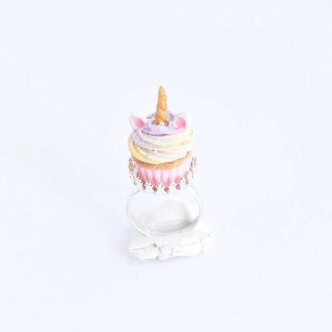 Scented Unicorn Birthday Cupcake Ring