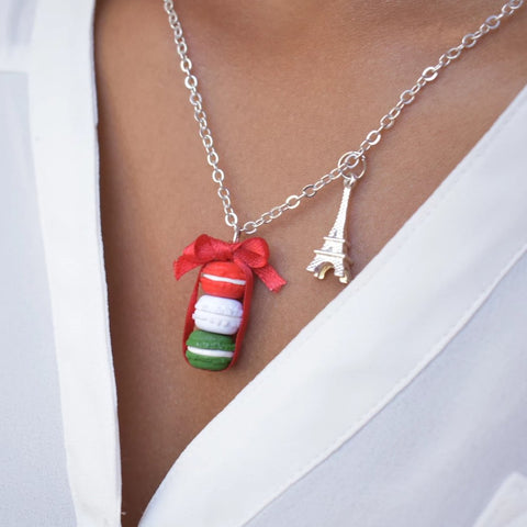 Scented Christmas Macaron Stack Necklace