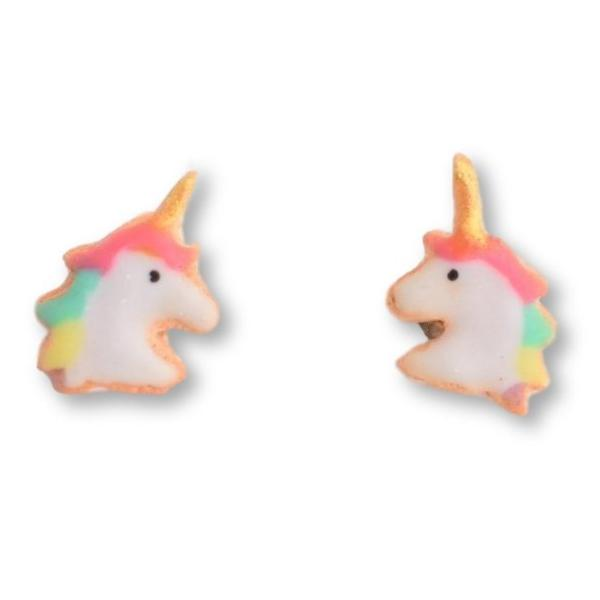Scented Mini Unicorn Sugar Cookie Stud Earrings