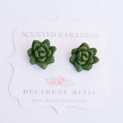 Scented Succulent Earrings