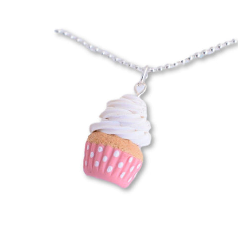 Scented Polka Dot Cupcake Necklace