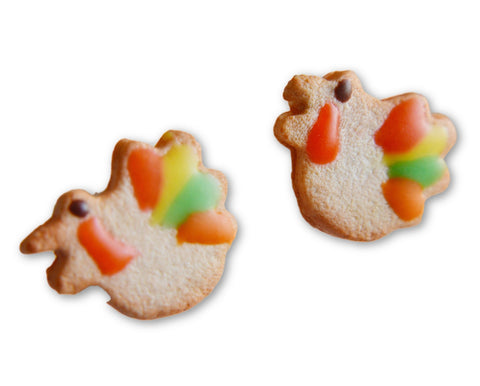 Fall Turkey Sugar Cookie Earrings (wholesale)