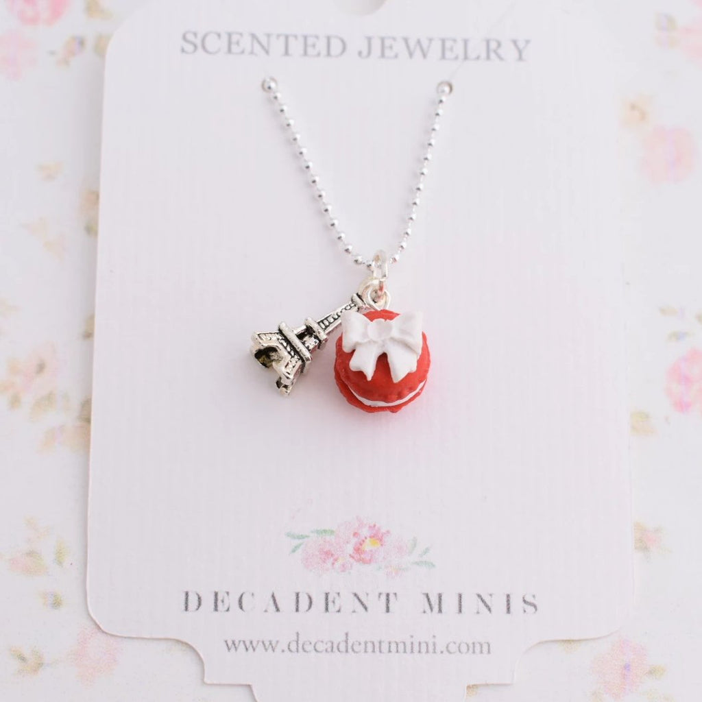 Scented Macaron Bow Necklace