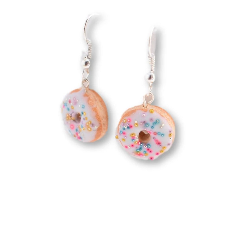 Scented Funfetti Donut Dangle Earrings