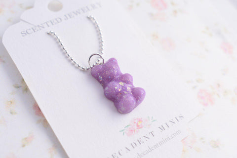 Scented Opal Gummy Bear Necklace