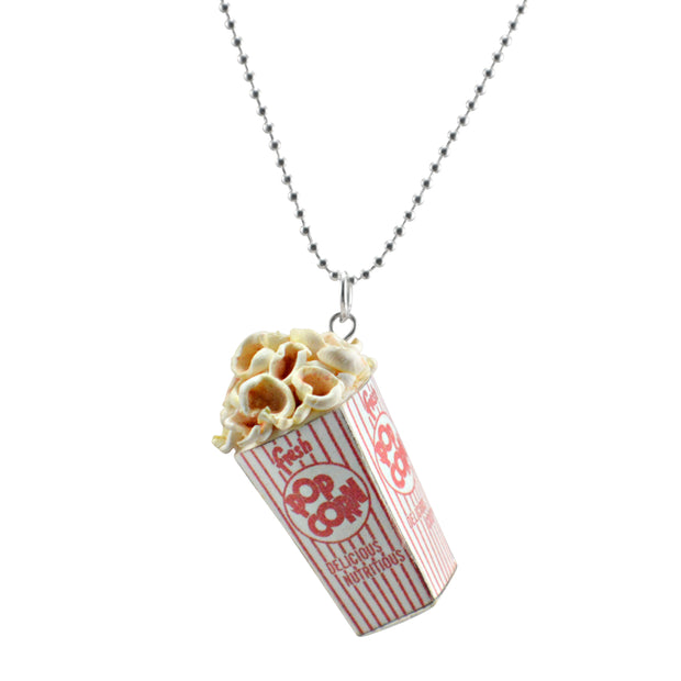 Scented Popcorn Charm Necklace (wholesale) 1