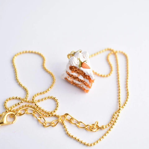 Scented Carrot Cake Necklace