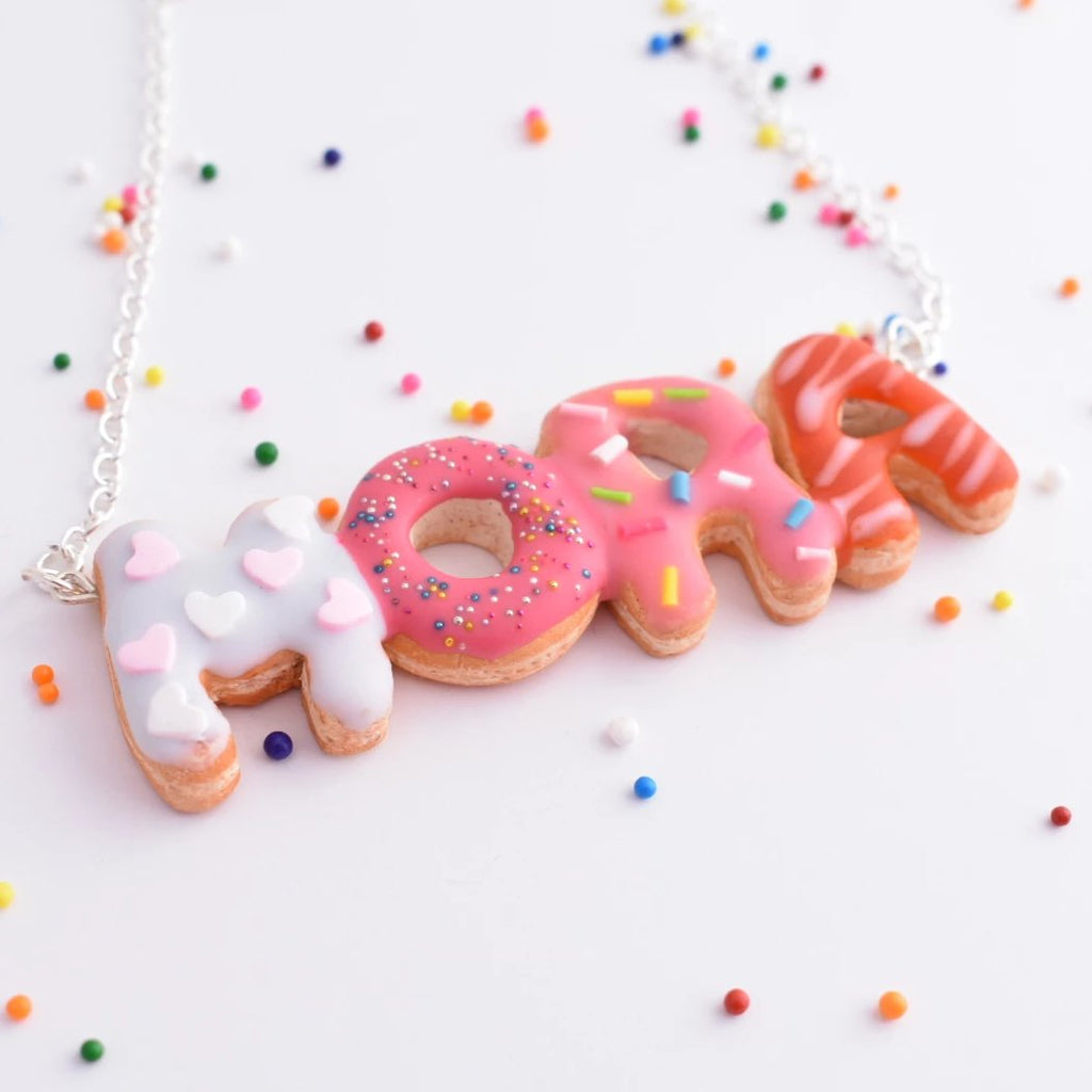 Scented Custom Name Donut Necklace