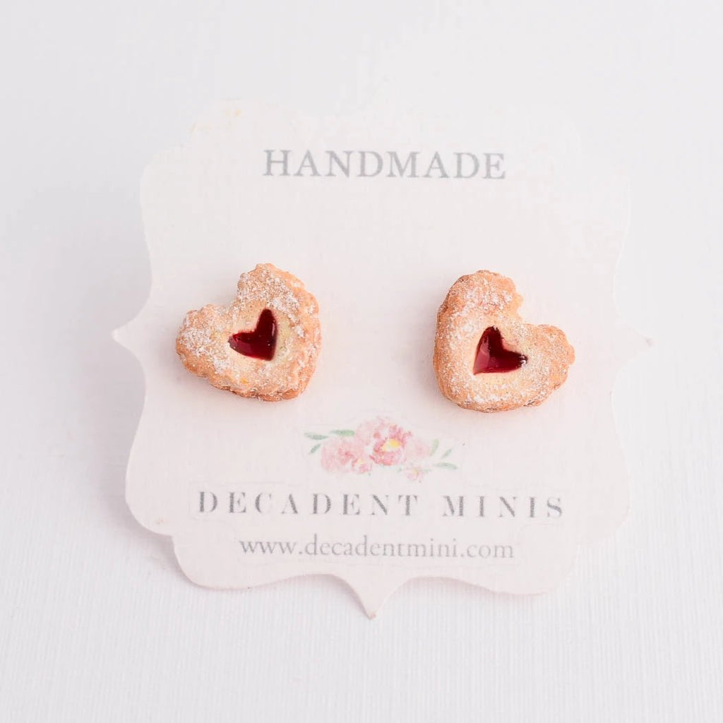 Scented Linzer Cookie Earrings